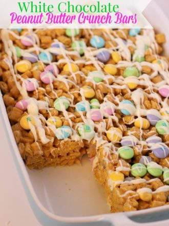 Easter White Chocolate Peanut Butter Crunch Bars
