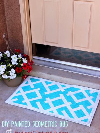 DIY Painted Geometric Rug with FrogTape® Textured Surface