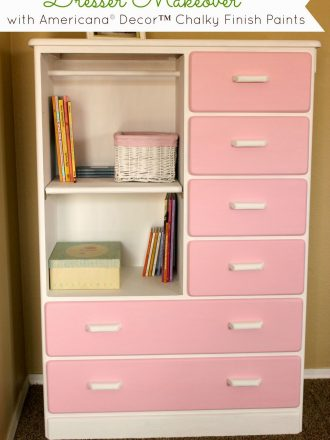 Dresser Makeover with Americana® Decor™ Chalky Finish Paints