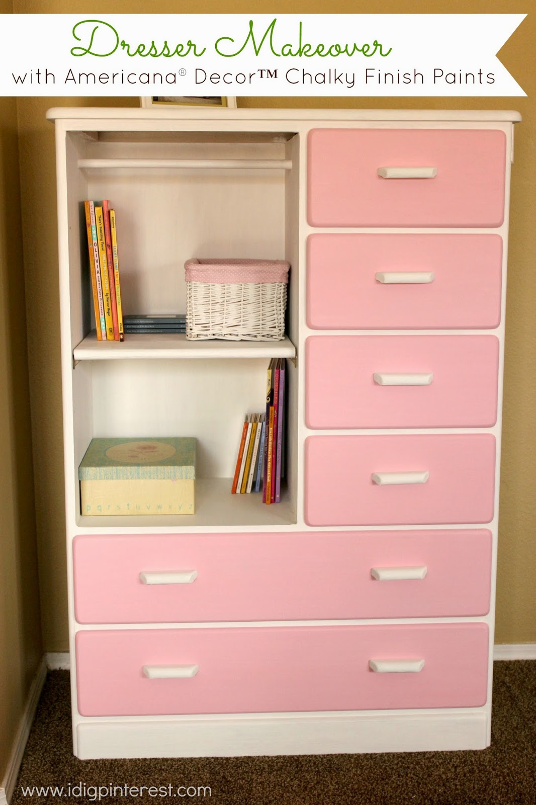 Dresser Makeover With Americana 174 Decor Chalky Finish