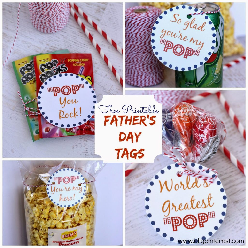 graphic about Free Printable Fathers Day Tags named Fathers Working day \