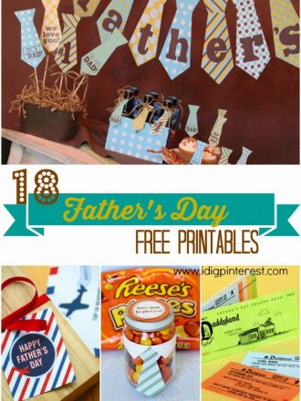 18 FATHER'S DAY { Free Printables}