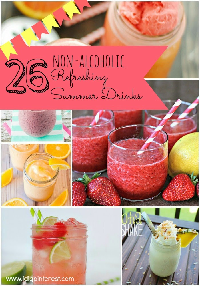26 non alcoholic refreshing summer drinks i dig pinterest for Refreshing alcoholic drink recipes