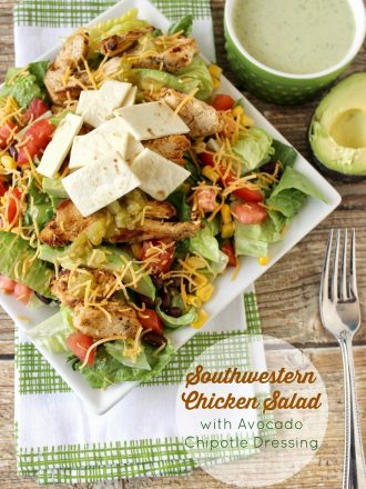 #ad Community Involvement & Southwestern Chicken Salad with Avocado Chipotle Dressing
