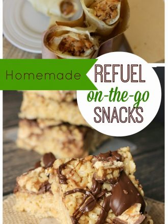 Homemade Refuel On-the-Go Snacks: Dr Pepper Pork Taquitos & SNICKERS® Krispies Treats