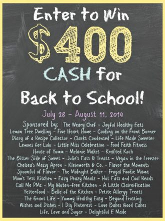 $400 Back to School Cash Giveaway!!!