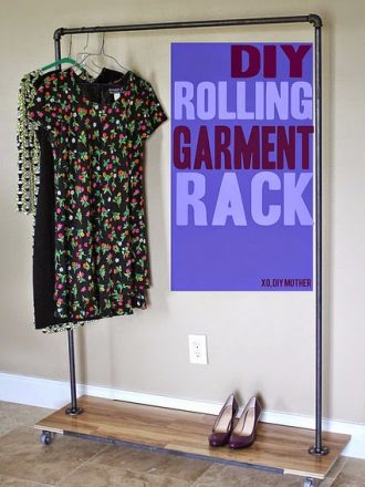 DIY Rolling Garment Rack