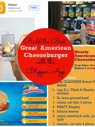 Build the Best Great American Cheeseburger with the Blippar App