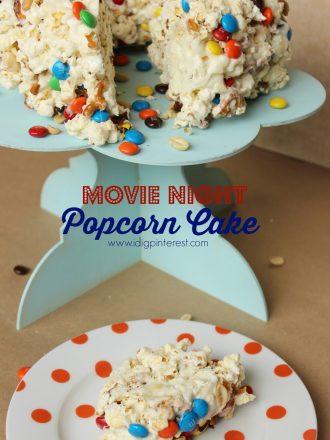 Movie Night Popcorn Cake & a Rio 2 Family Night Surprise!