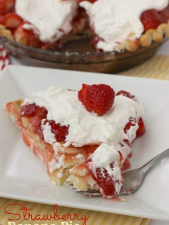 Deluxe Strawberry Banana Cream Pie with Perfect Pie Crust Tutorial