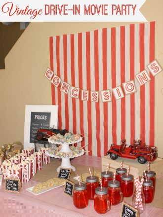 Kellogg's Vintage Drive-In Movie Party #goodnightsnack #cbias