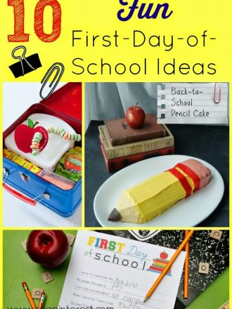 10 Ideas to Make the First Day of School Special