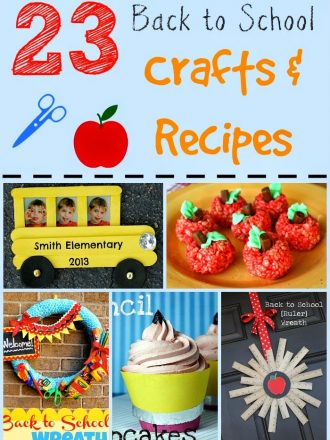 23 Back to School Crafts & Recipes