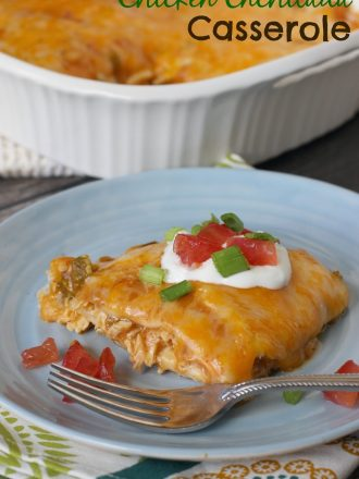 Easy Chicken Enchilada Casserole: Help a School with Campbell's Labels for Education #labels4edu #cbias