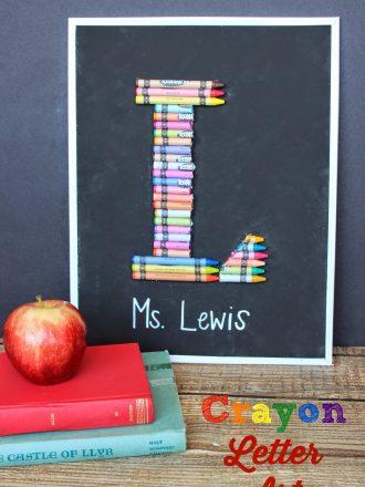 Chalkboard Crayon Letter Art Teacher Gift & $50 Dollar Tree Gift Card Giveaway!!