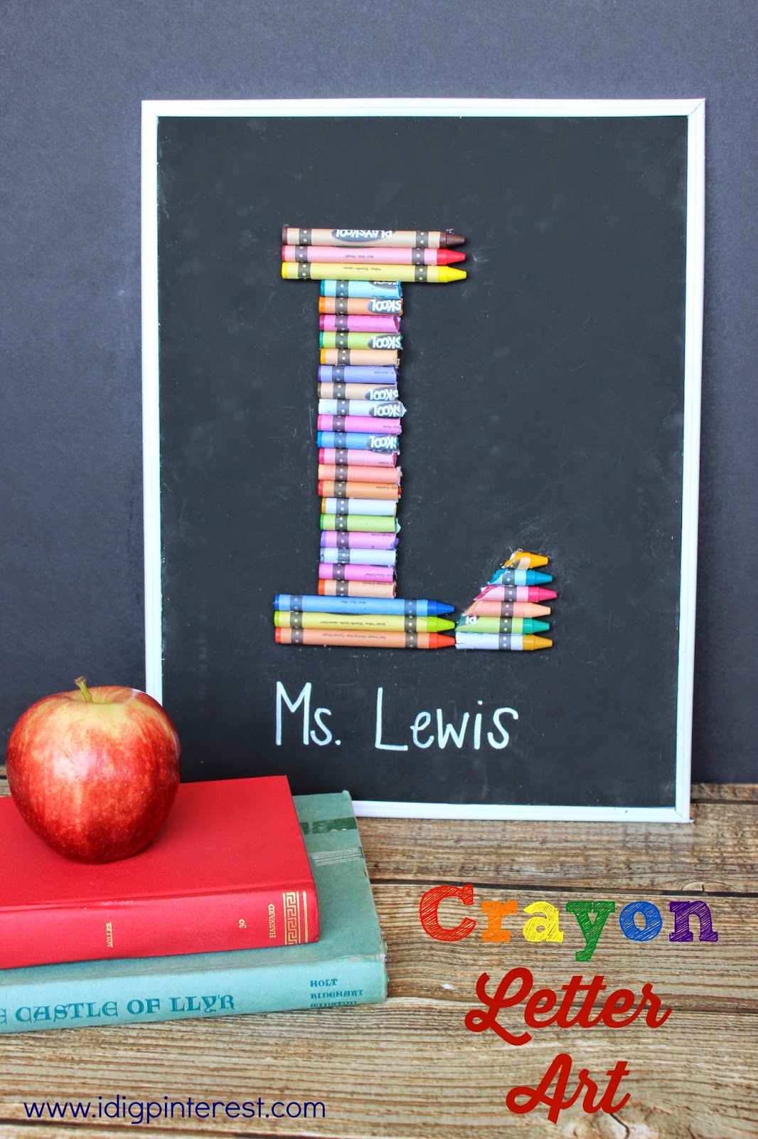 chalkboard crayon letter art teacher gift 50 dollar tree gift card giveaway i dig pinterest