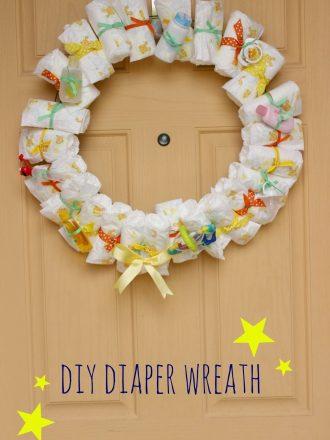 DIY Baby Diaper Wreath Shower Gift/Decoration