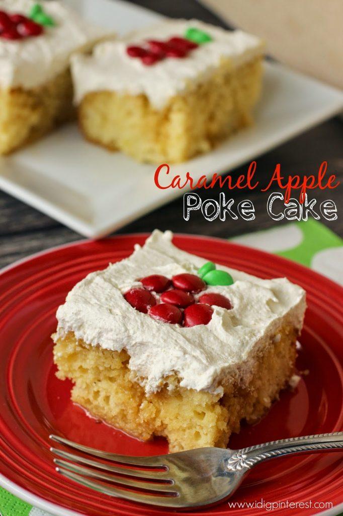 Caramel Apple Cake With Yellow Cake Mix