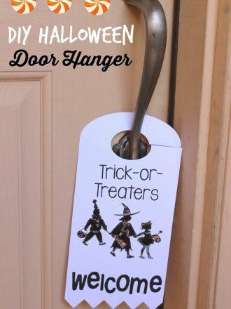 """""""Trick-or-Treaters Welcome"""" Halloween Door Hanger with Silhouette PixScan"""