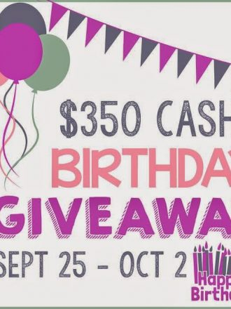 Play. Party. Pin Big Birthday Giveaway {$350 PayPal Cash}!!