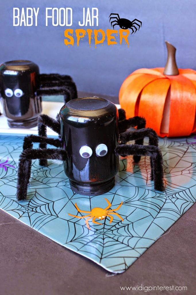 30 of the best halloween recipes crafts printables and for Baby food jar crafts pinterest