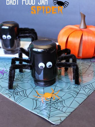 Baby Food Jar Spider Craft