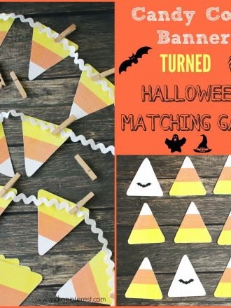Candy Corn Banner Turned Halloween Matching Game