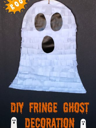 DIY Fringe Ghost Decoration