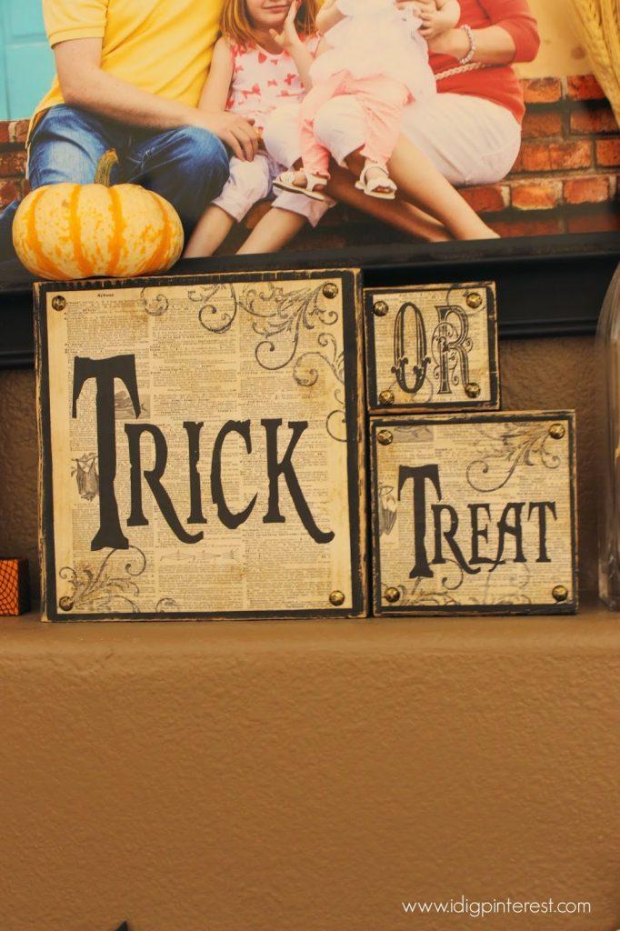 Halloween Mantel 2014 I Dig Pinterest