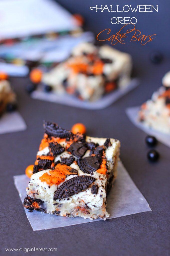Halloween Oreo Cake Bars I Dig Pinterest