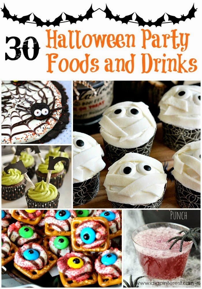 halloween party drinks foods food recipes crafts drink printables spooky parties idigpinterest collage throwing