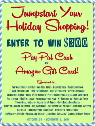 Jump Start Your Holiday $300 Cash Giveaway!