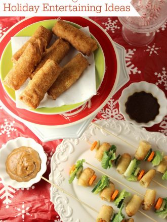 Easy Holiday Entertaining Ideas with Asian Cuisine: Homemade Peanut and Sesame Ginger Sauces
