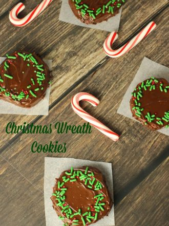 Christmas Wreath Peppermint Chocolate Cookies