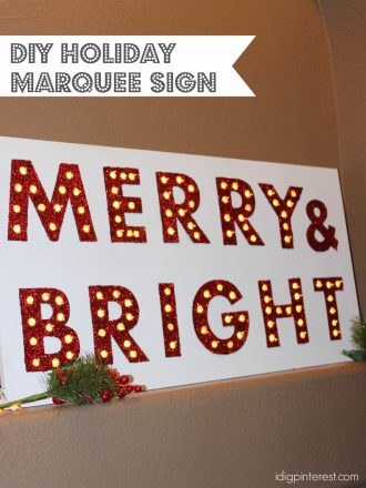 DIY Holiday Marquee and Let it Snow Sign