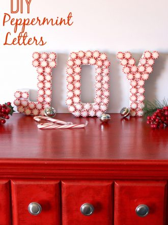 DIY Peppermint JOY Letters Christmas Craft