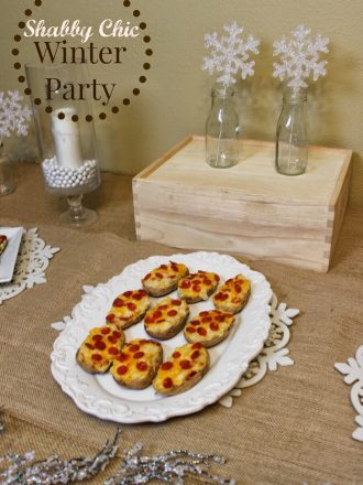 Shabby Chic Winter Party with Perfect Pepperoni Recipe Ideas!
