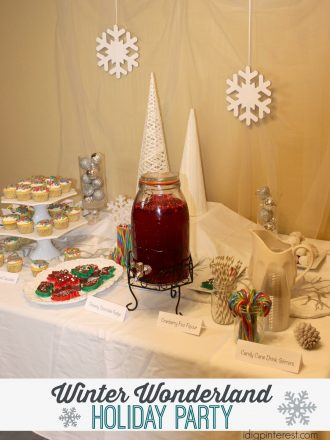 Easy Entertaining Ideas: Winter Wonderland Holiday Party