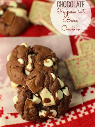 Chocolate Peppermint Bark Cookies: December Mystery Dish