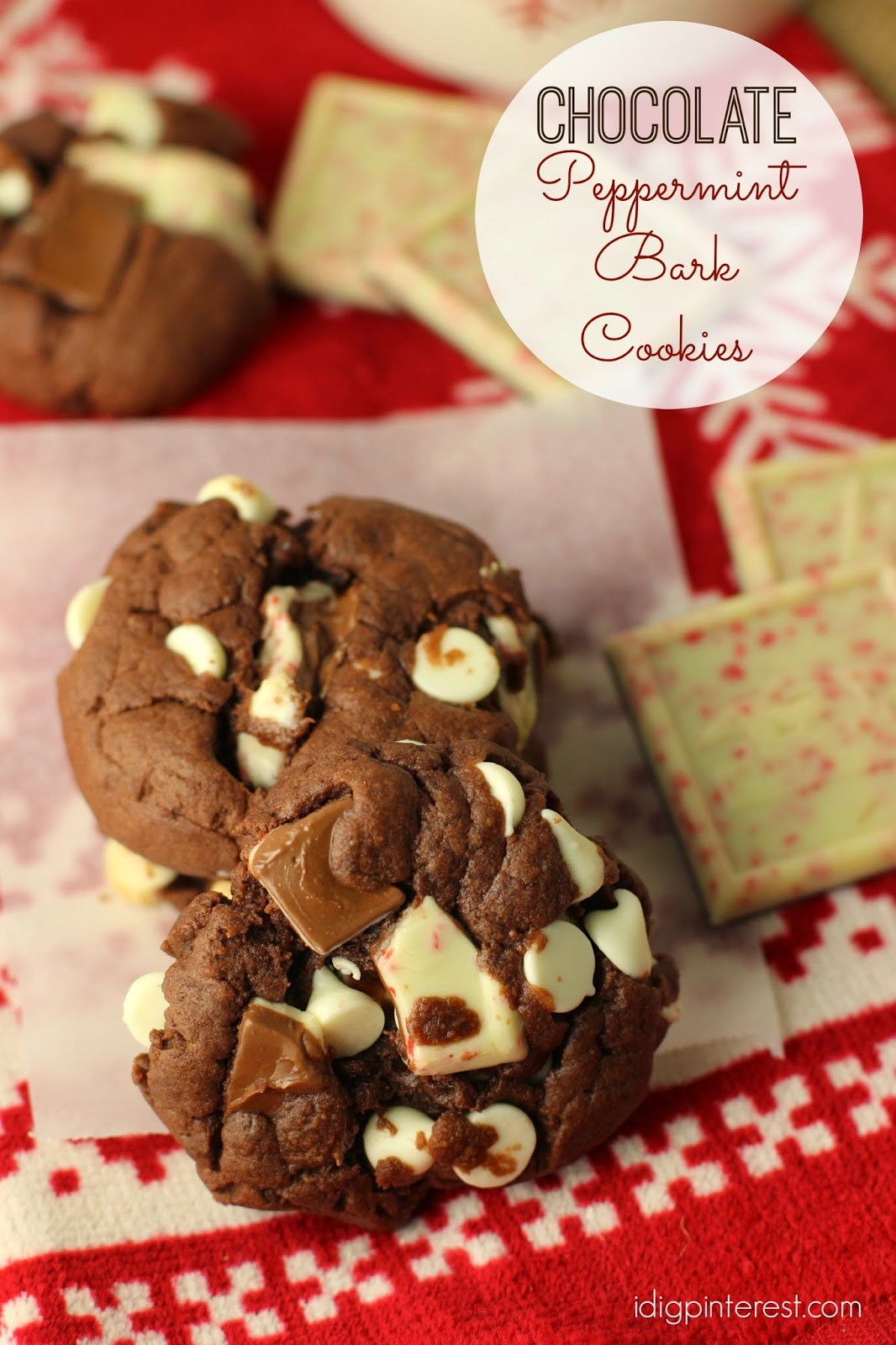 Chocolate Peppermint Bark Cookies: December Mystery Dish ...