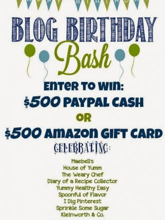 Bloggers' Birthday Bash Plus $500 Paypal Cash or Amazon Gift Card Giveaway!!