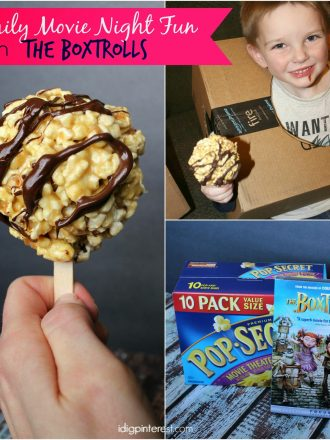 Family Movie Night Fun with The Boxtrolls and Gooey Salted Caramel Popcorn Balls