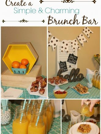 Create a Simple and Charming Brunch Bar with Sweet Rolls