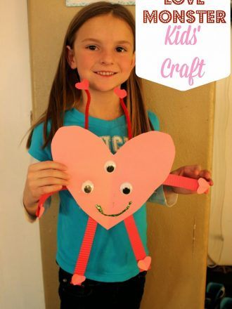 Love Monster Valentine's Kids Craft