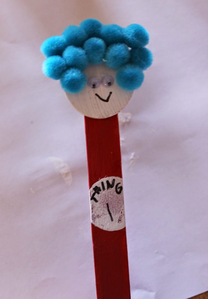 dr  seuss kids u0026 39  craft  thing one and thing two bookmarks