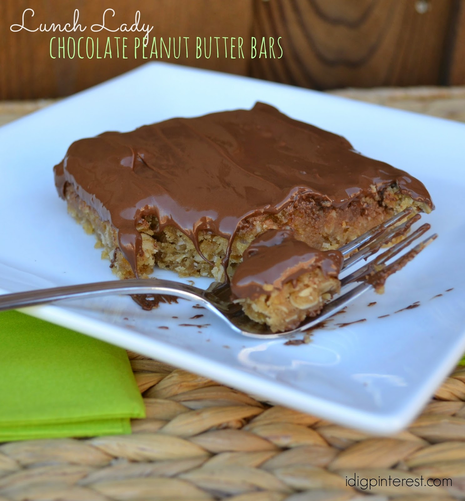 lunch lady chocolate peanut butter bars i dig lunch lady chocolate peanut butter bars