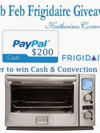 Fab Feb Frigidaire Plus $200 PayPal Cash Giveaway