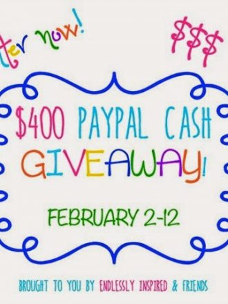 $400 PayPal Cash Giveaway!!