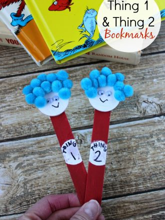 Dr. Seuss Kids' Craft: Thing One and Thing Two Bookmarks