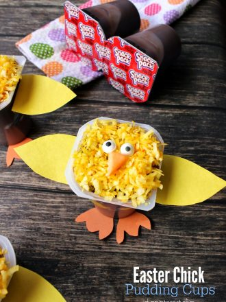 Easter Chicks Pudding Cups